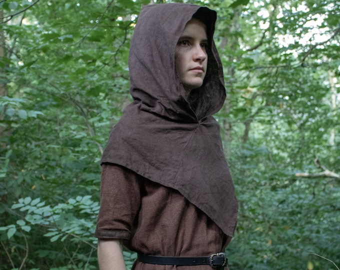 Viking Hood Linen, Skjoldehamn Medieval Garb - Several Colors Available  - /F/ (LB)