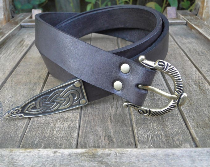 Viking Leather Belt, Deluxe With Tip - Choose Your Size & Color