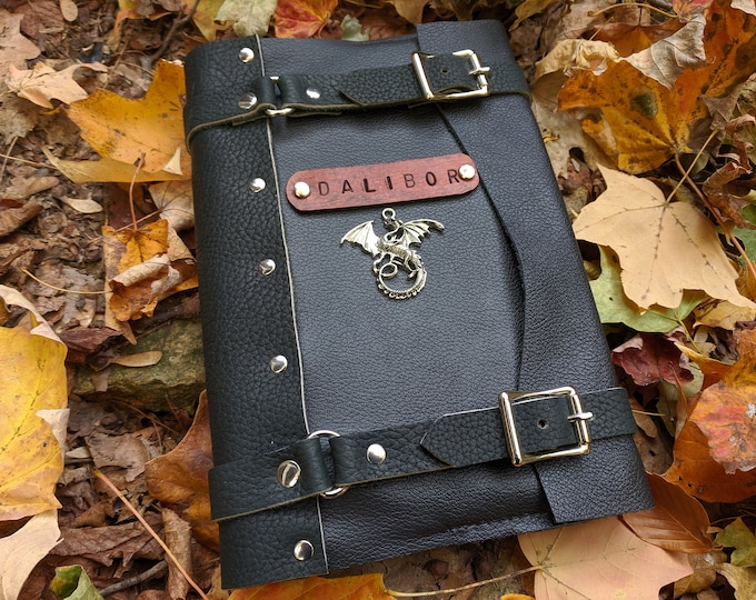Personalized Leather Journals, DND Fantasy Writer Gifts, Custom Medieval Books Refillable, Hardback Journal - /P/ (AB)