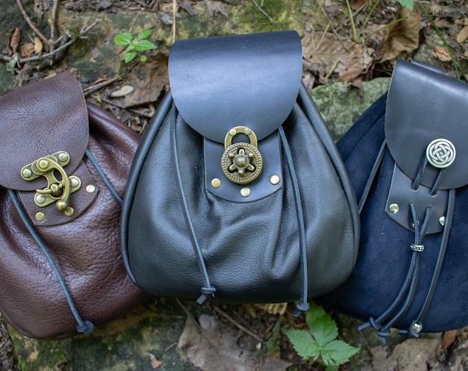 Sporran Leather Bags, Belt Pouch, Medieval, LARP, Renaissance Fair - SPORRAN