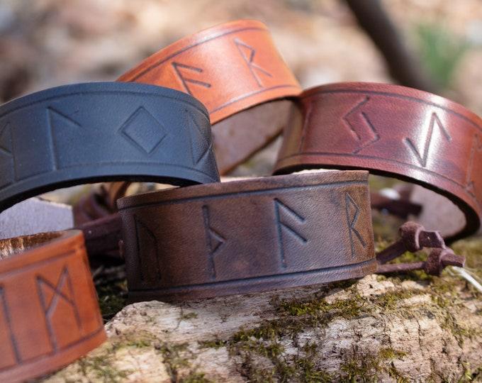 Rune Bracelet, Wrist Cuff Viking Medieval /F/ (AB)