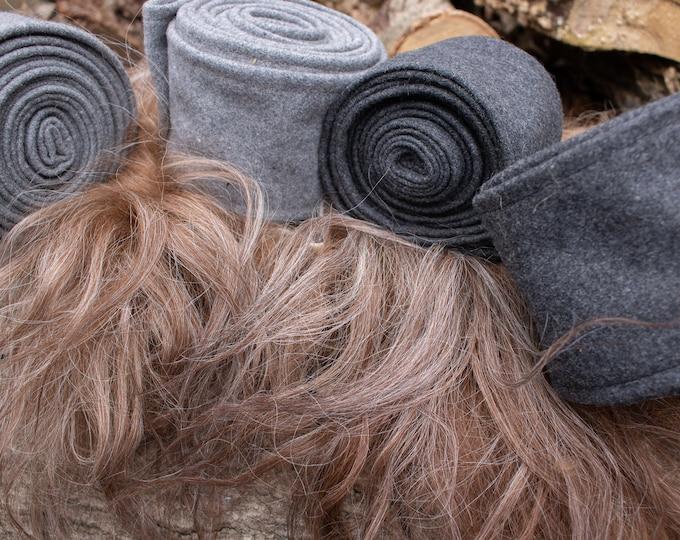 Viking Leg Wraps, Wool Winingas, Leg Warmers, Pair - (F) LB