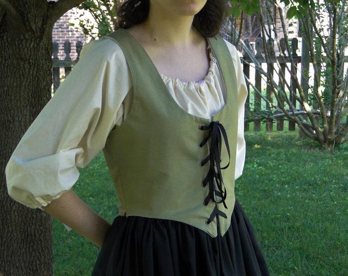 Renaissance Bodice, SAGE Womens Size S, M, L, XL