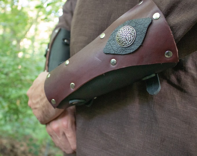 Celtic Leather Bracers, Leather Armor, Medieval, Renaissance, LARP, Cosplay - /P/ (AB)
