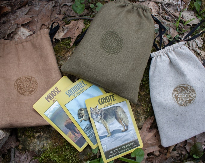 Oracle Card Celtic Drawstring Bag,Tarot - (F) LB
