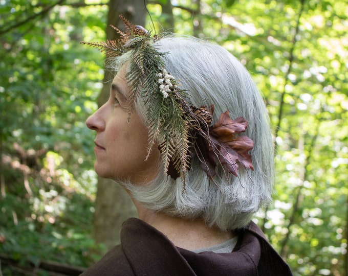 Autumn Oak Crown, Elven Circlet, Woodland, Hair Wreath /F/ (LB)