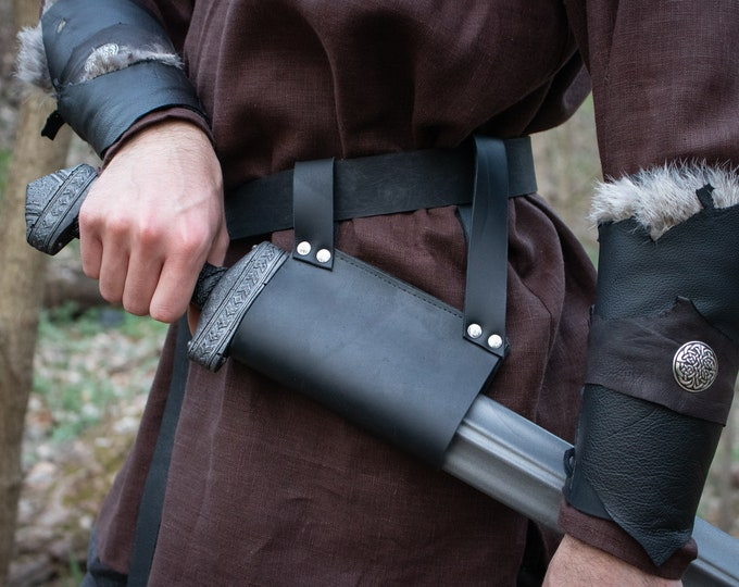 Sword Belt Frog, LARP Viking Medieval Fair - /F/ (AB)
