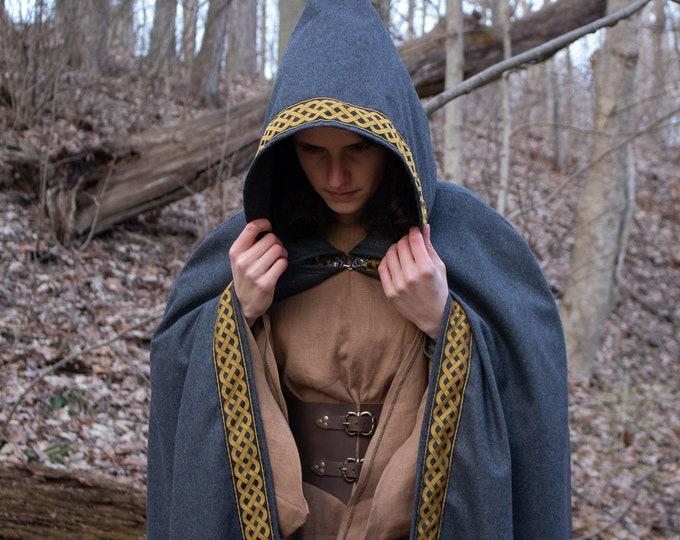 Celtic Wool Cloak, Medieval Equinox Solstice, Druid Cape /P/ (LB)