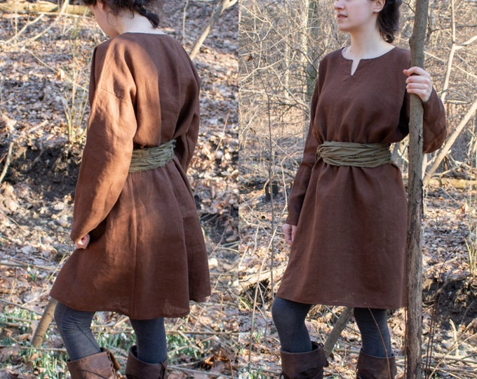 Women's Medieval Tunic Dress, Long Sleeve /P/ (LB)