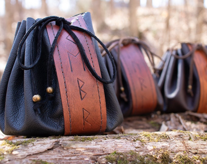 Rune Pouches Ready Made - Viking Medieval Bags /F/ (AB)