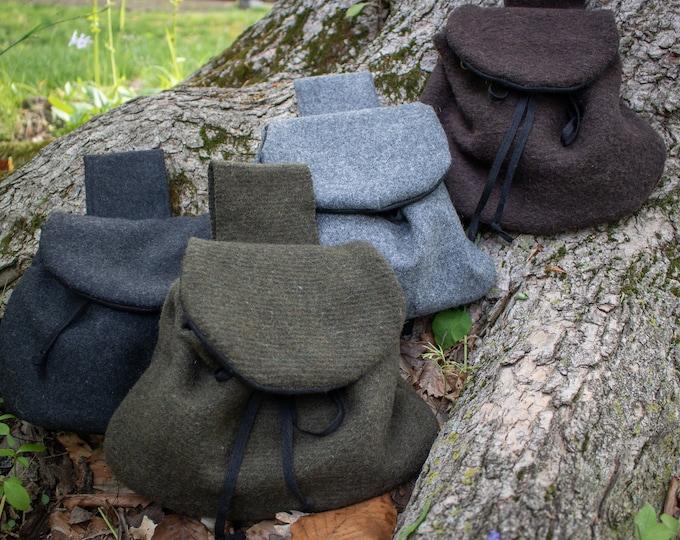 Highland Wool Belt Bag, Celtic Sporran, Medieval - /F/ (LB)
