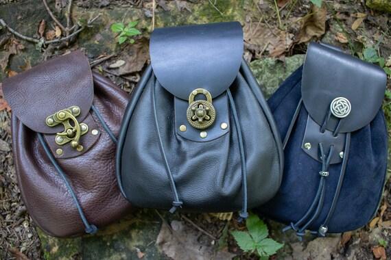 Sporran Leather Bags, Belt Pouch, Medieval, LARP, Renaissance Fair Sporran - /F/ (AB)