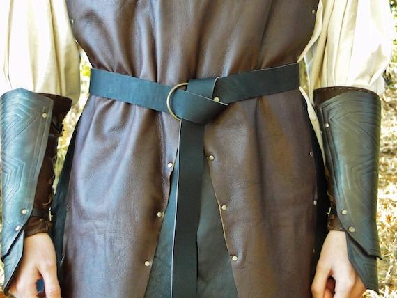 "Medieval Leather Ring Belts, 60"" Long - Renaissance, sca, LARP - Several Color Options - /F/ (AB)"