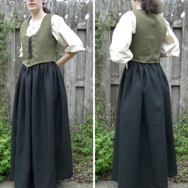 ddc8009000f9 Renaissance Fair Dress 3 Piece Outfit SET Chemise Skirt | Etsy