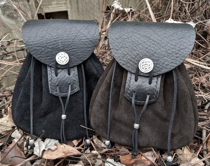 Sporran Bag, Leather Pouch - Scottish Medieval Renaissance - THE HIGHLANDER Deluxe