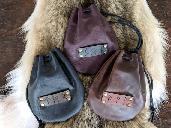 Custom Rune Bags Personalized Pick Your Runes, Coin Dice Pouch - /F/ (AB)