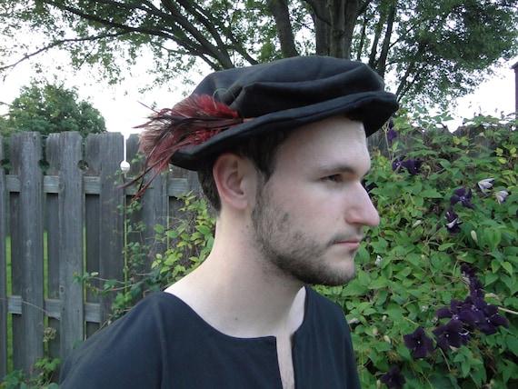 Medieval Renaissance Hat, Costume Accessory, Faux Suede or Linen Fabric - Choose Your Color - /F/ (LB)