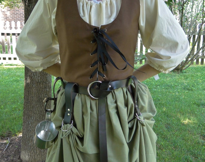 Skirt Hikes, Pair 2 Leather Skirt Chasers, Medieval Renaissance - Choose Your Color
