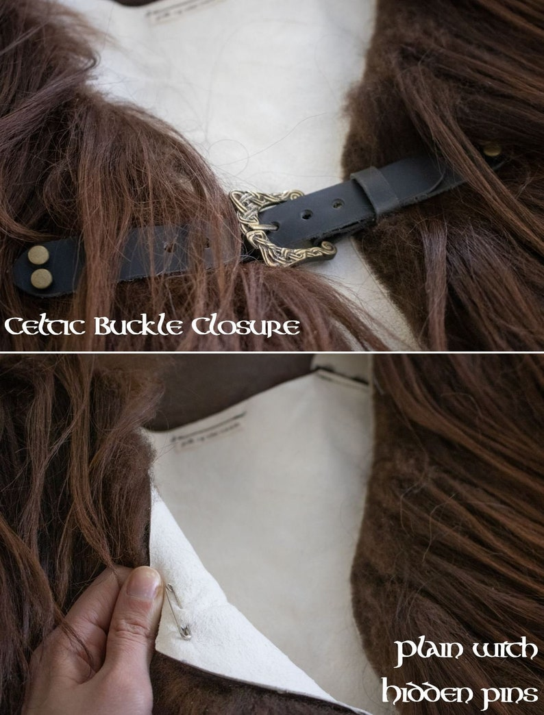Choose Color P Icelandic ML AB Fur Collar Sheepskin Mantle