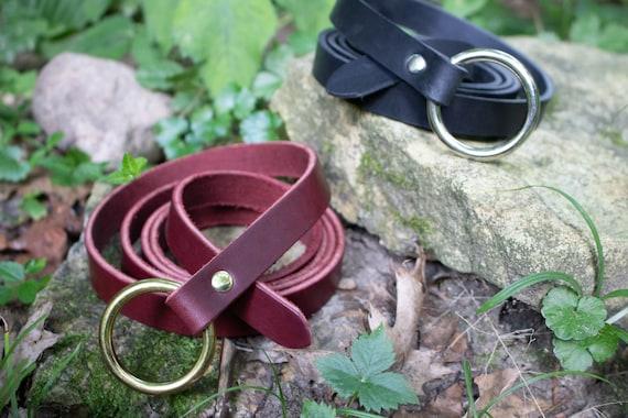 "Medieval Leather Ring Belts, 3/4"" wide x 60"" Long - Renaissance, LARP - Several Color Options /F/ (AB)"