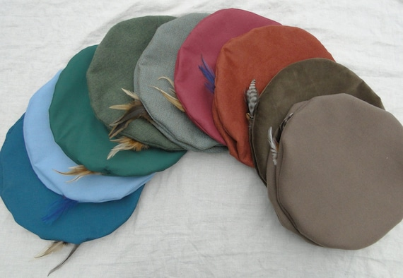 Renaissance Hats - Medieval Mens or Womens - Lots of- Color & Fabric Choice - /F/ (LB)