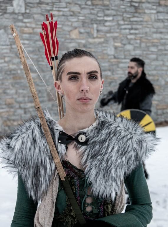 New Faux Sheep Fur Cape Viking Medieval Renaissance LARP