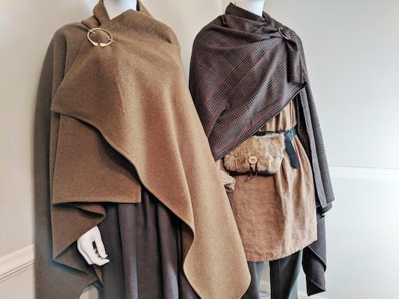 Celtic Viking Cloak & Penannular Brooch, Wool Choose Your Color - /P/ (LB)