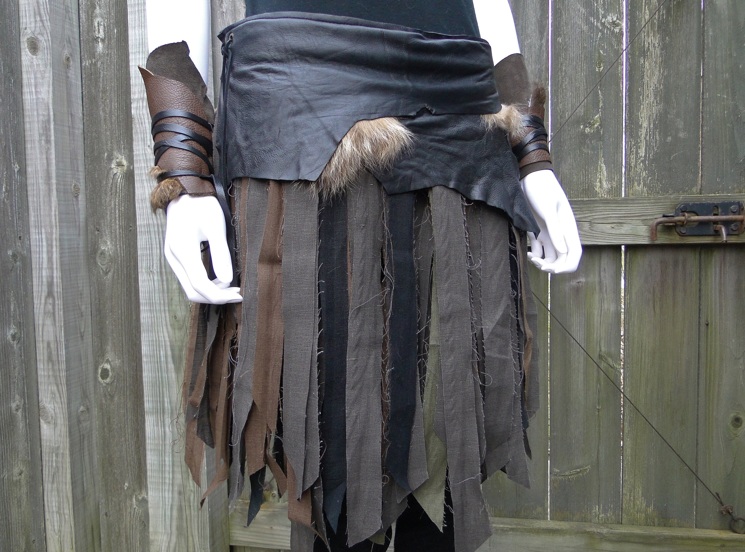 Two Styles in One AFRICAN WRAP SKIRT Warrior Skirt Battle Skirt Era-Kanda Collection Cosplay Accessory