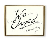 Cute We Eloped Cards, Classic Elopement Announcement, Black And White Elopement Card, We Eloped Announcement, We're Hitched Card, Elope Card