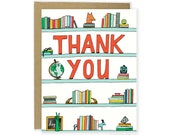 Cute Thank You Card - Thank You Shelf, Cute Thanks Card, Thank You Notecard, Blank Thank You Card, For Her, Him, Everyday Thank You Card