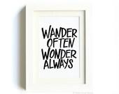Wander Often Wonder Always® Print by Hello Small World - 5x7