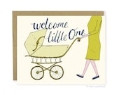 Cute New Baby Card - Welcome Little One Card, Congratulations Baby Card, Sweet New Baby Card, Congrats Baby Card, Baby Shower