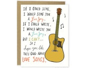 Funny Love Card - Love Song, Anniversary Card, Music Card, Funny Girlfriend Card, Funny Wife Card, Funny Valentine Card, Valentines Card