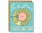 Funny Love Card - For The Record Card, Anniversary Card, Pun Card, Friends Card, Boyfriend Card, Girlfriend, Wife Husband