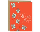 Missing You Card - Call Me Maybe Card, I Miss You Card, Cute Friend Card, Call Me Card, Cute Thinking Of You Card, Cute Love Card