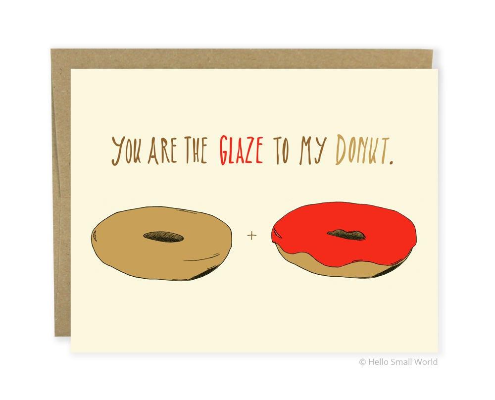 Funny Love Card Anniversary Card Food Love Card Donut Love Etsy