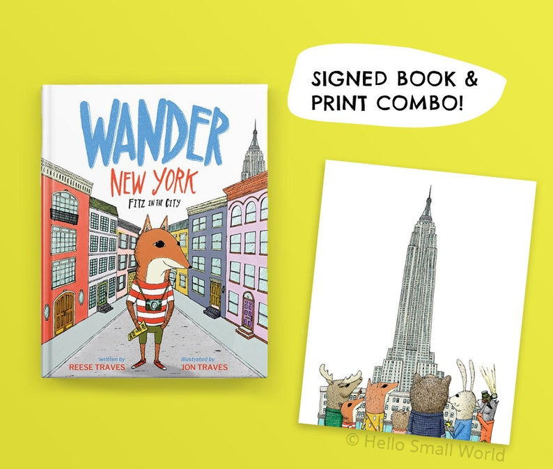 Wander New York: Fitz in the City picture book and print COMBO image 0