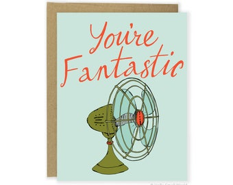 Funny Thank You Card - You're Fantastic Card, Pun Card, Funny Love Card, Punny Anniversary Card, Friend Card