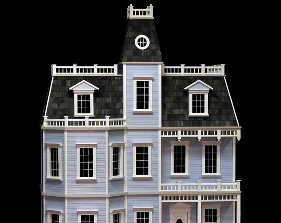 1:12 Wooden Dollhouse KIT, Victorian Mansion, Newport