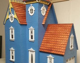 Wooden Dollhouse Kit, Delilah, A Victorian Dollhouse Kit, Scale One Inch