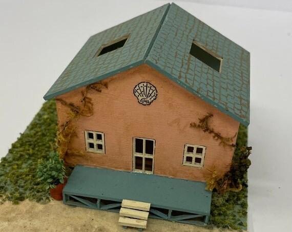 1:144 Dollhouse Miniature Wooden Dollhouse Kit, Summer Love, 144th scale
