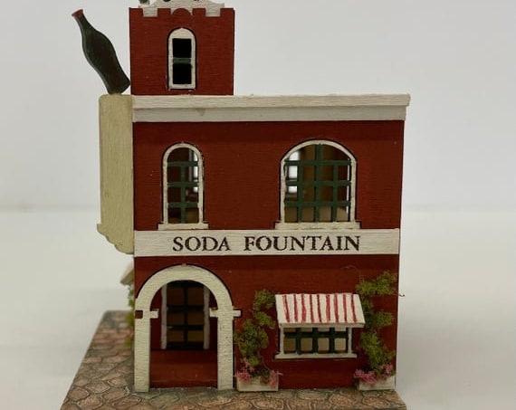 1:144 Micro Mini Wooden Dollhouse KIT, Soda Fountain, 1/144 scale