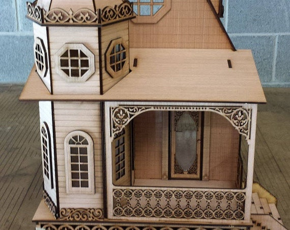 One Inch Scale, Pandora, The Gothic Revival Victorian Cottage, 1:12 Scale, SHIPS WORLDWIDE