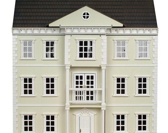 Wooden Dollhouse KIT, Grande Georgian Mansion, 1:12 scale