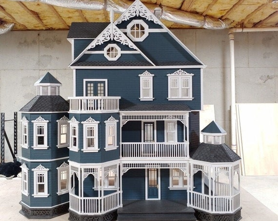 1:12 Scale Wooden Dollhouse KIT, Abigail, A Gothic Victorian Mansion, Scale One Inch