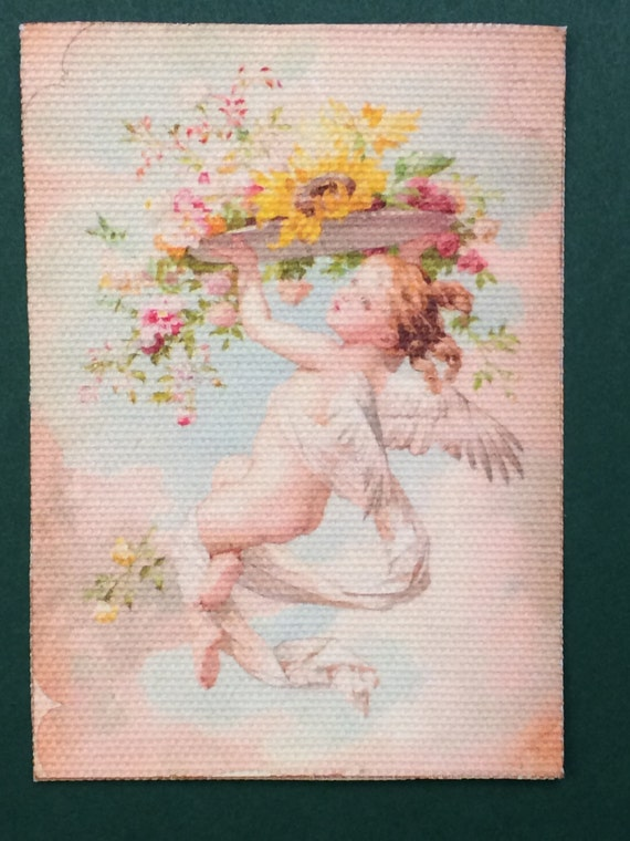 "Miniature Rose Garden Romantic Shabby Chic Rug, ""Evangeline"", Scale One Inch"