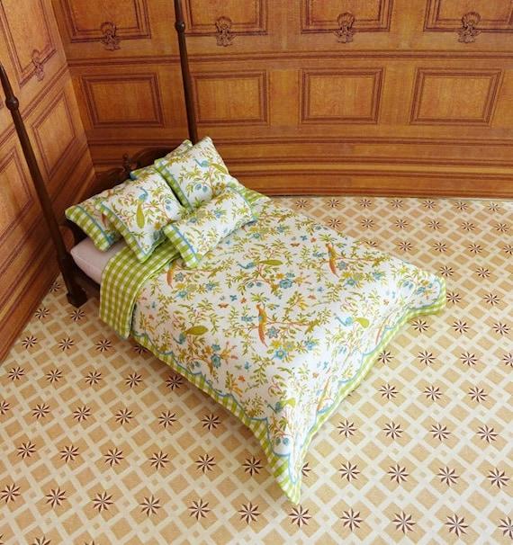 Dollhouse Miniature Double Bedding KIT, Peyton, 1:12 scale