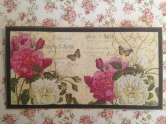 NEW Dollhouse Miniature Rug, The Sweet Scent of Roses, Scale One Inch