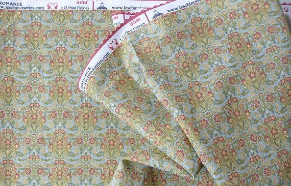 Dollhouse Miniature Matching Fabric, WM, Scale One Inch
