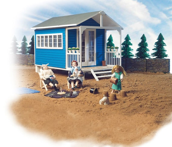 1:12 Wooden Dollhouse Kit, Summer House, One Inch scale